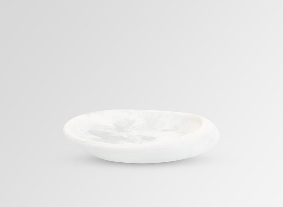 Small Resin Pipi Bowl - Snow Swirl