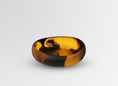 Small Resin Rock Bowl - Tortoiseshell