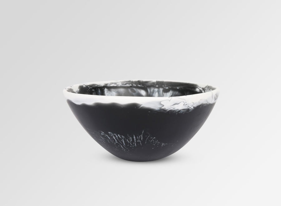 Small Resin Ball Bowl - Black Marble