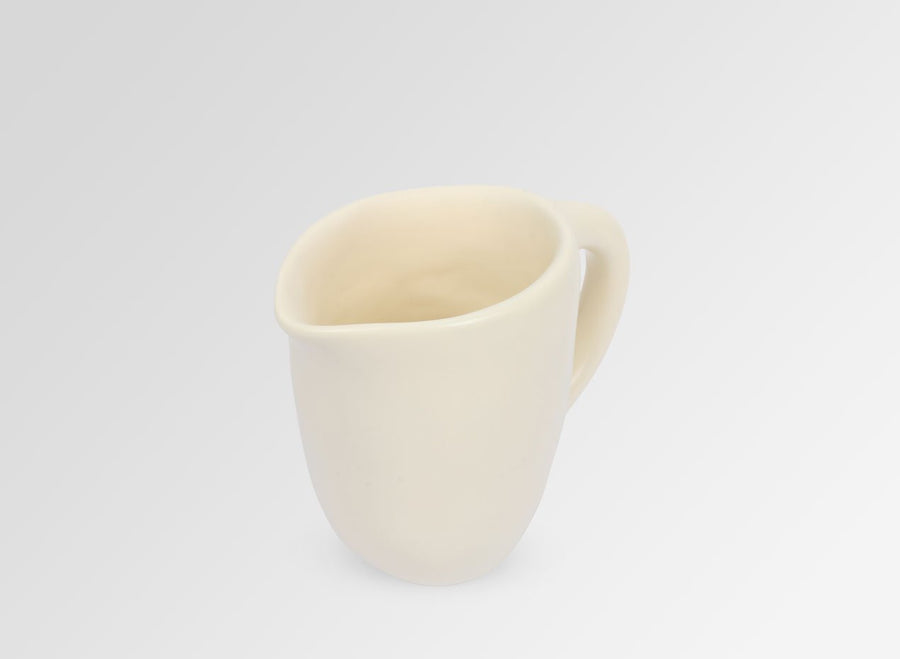 Small Resin Rock Jug - Cream