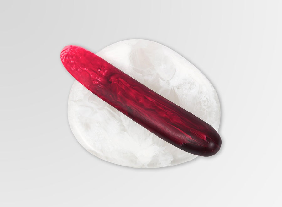 Resin Stone Butter Knife - Raspberry