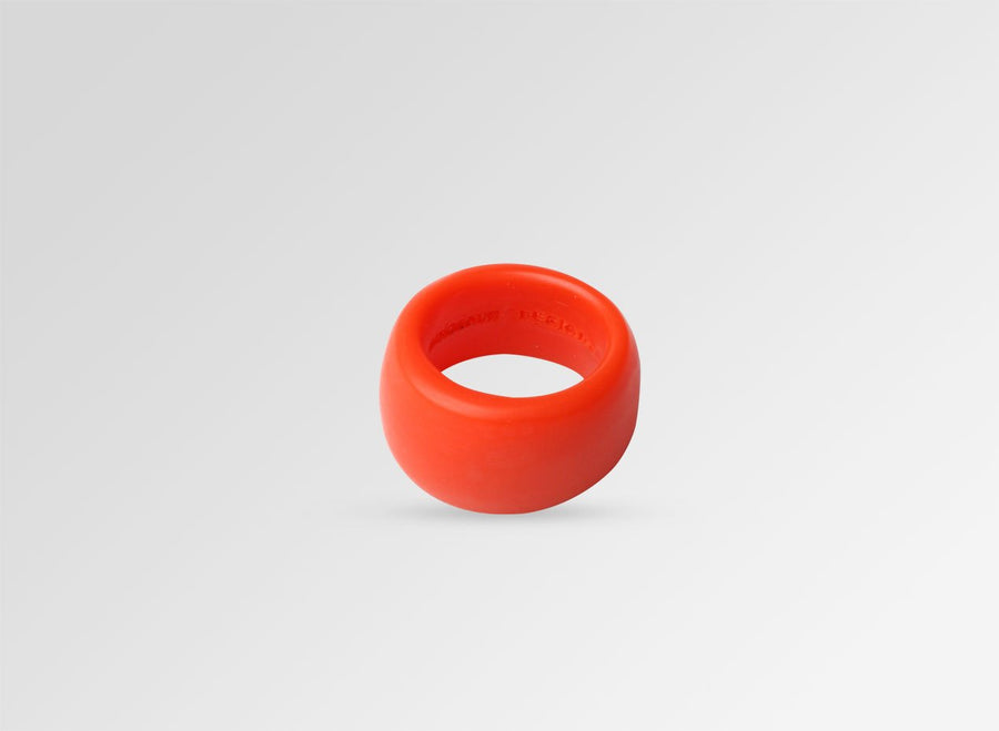 Resin Band Ring - Coral