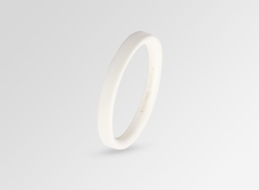 Resin Bones Wishbone Bangle - Snow