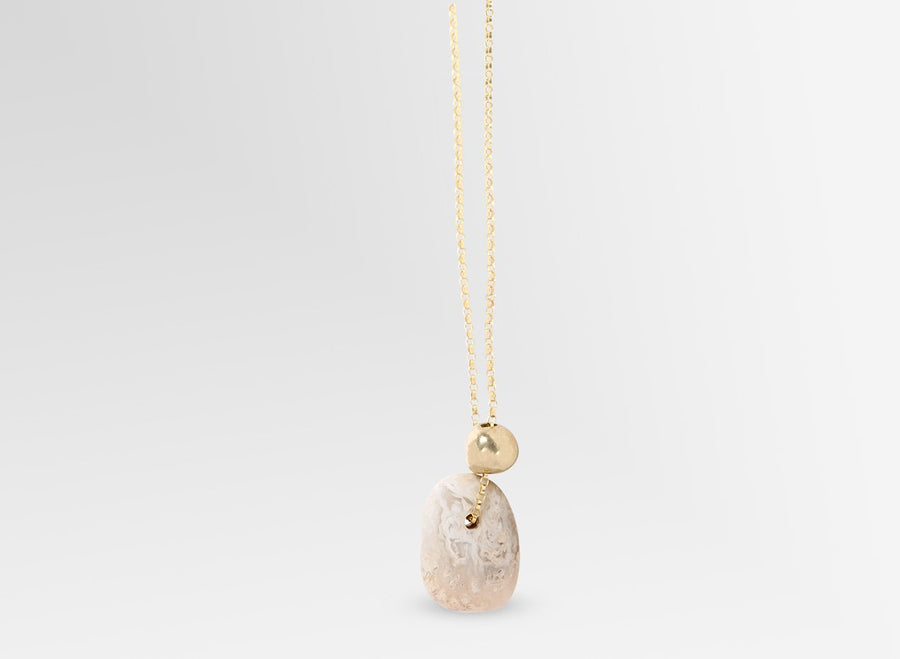 Joie De Vivre Pendant on Chain - Sandy Pearl