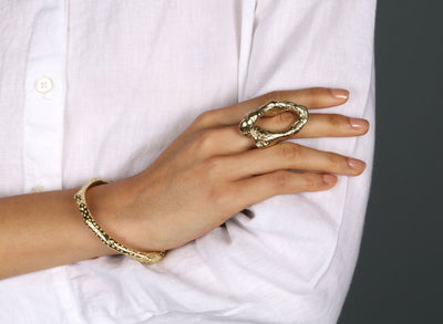 Rockpool Ring - Brass