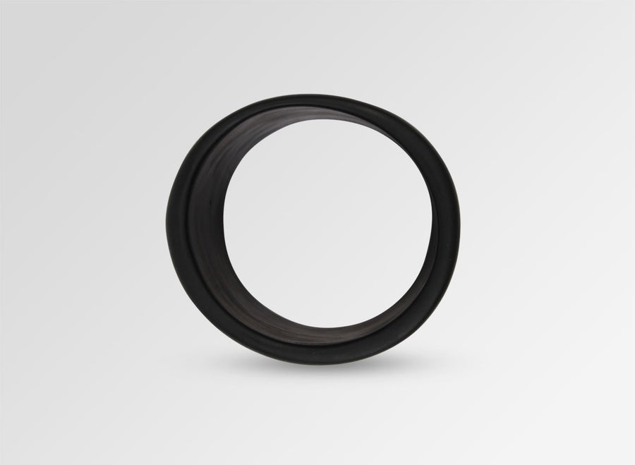 Long Resin Band Bangle - Black