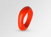 Large Resin Irregular Bangle - Coral