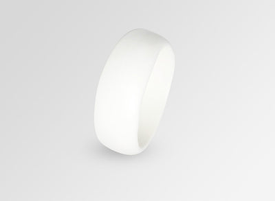 Large Resin Organic Bangle - Snow