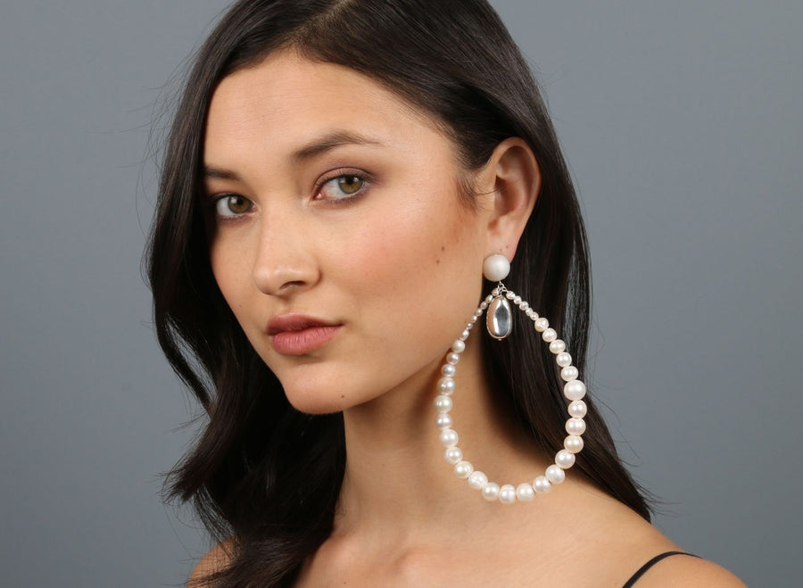 Pearl Garden Pebble Single Clip-on Earring