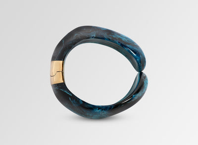 Resin Bold Stone Cuff - Dark Turquoise