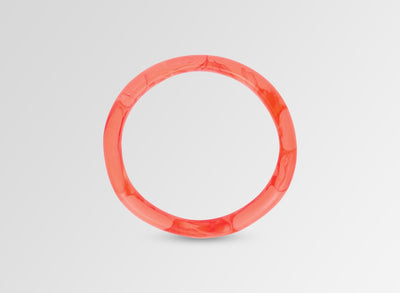 Classic Resin Wishbone Bangle - Melon Swirl