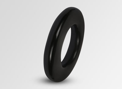 Resin Disc Bangle - Black
