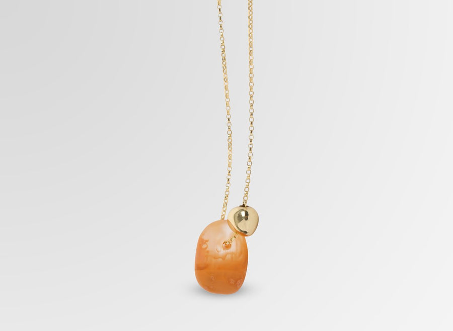 Joie De Vivre Pendant on Chain - Terracotta Swirl