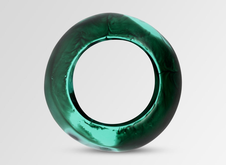 Large Resin Boulder Bangle - Forest