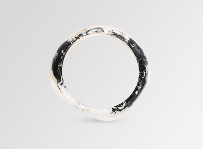 Large Resin Organic Bangle - Riverstone Swirl