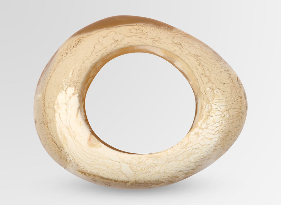 Large Resin Rock Bangle - Caramel Swirl