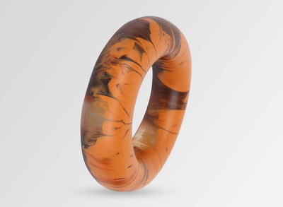Large Resin Round Bangle - Clay Swirl