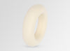 Large Resin Round Bangle - Cream