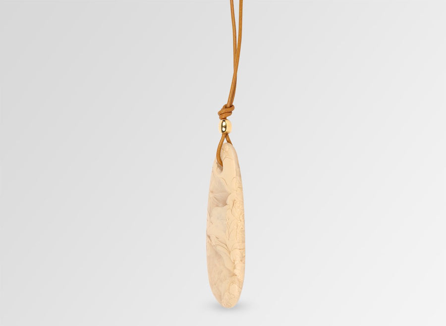 Resin Long Rock Pendant - Sandalwood