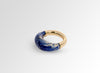 Medium Horn Ring - Lapis Swirl