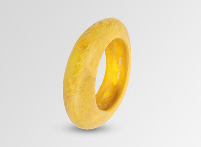 Medium Resin Rock Bangle - Honeycomb