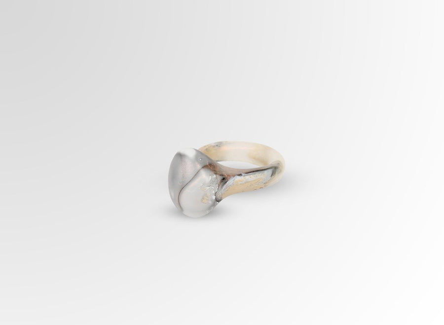 Resin Mineral Ring - Sandy Pearl