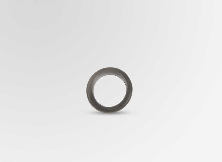 Resin Modern Tribal Band Ring - Charcoal