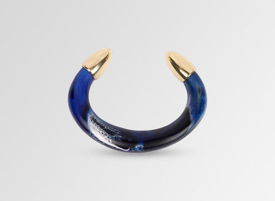 Resin Pebble Cuff - Lapis Swirl