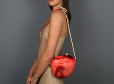 Resin Rock Handbag - Melon Swirl
