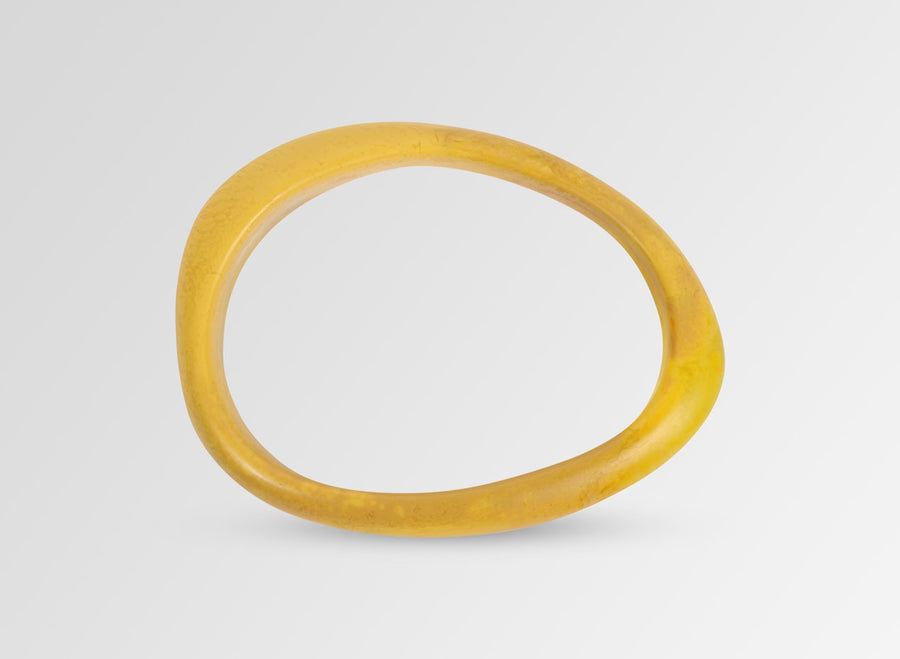 Resin Rock Wishbone Bangle - Honeycomb