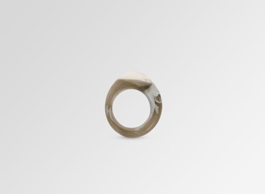 Resin Slate Ring - Oystershell