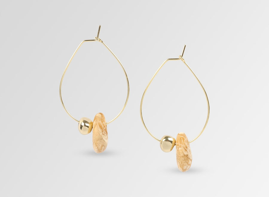 Joie De Vivre Hoop Earrings - Caramel Swirl