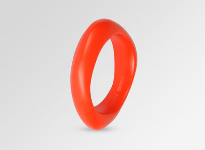 Small Resin Irregular Bangle - Coral