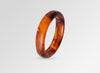 Small Resin Organic Bangle - Tortoiseshell