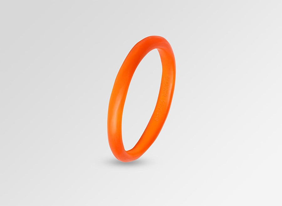 Classic Resin Wishbone Bangle - Orange