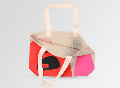 Hessian Tote Bag - Coral