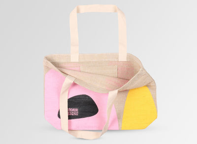Hessian Tote Bag - Pink