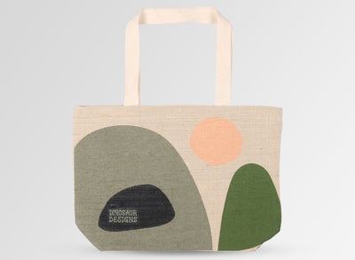 Hessian Tote Bag - Olive