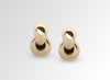 Louise Olsen X ALEX AND TRAHANAS Large Double-Linked Chifferi Hoop Earrings - Brass
