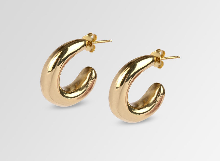Louise Olsen Large Liquid Loop Earrings- Brass