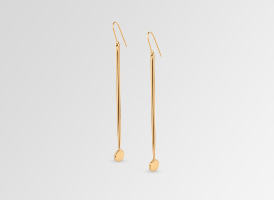 Louise Olsen Long Dandelion Drop Earrings - Gold