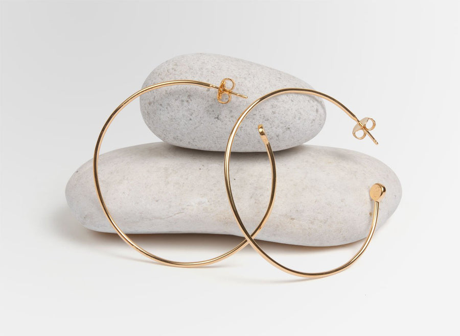 Louise Olsen Love Dot Hoop Earrings - Gold