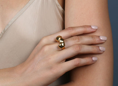 Louise Olsen Small Wrap Ring - Gold