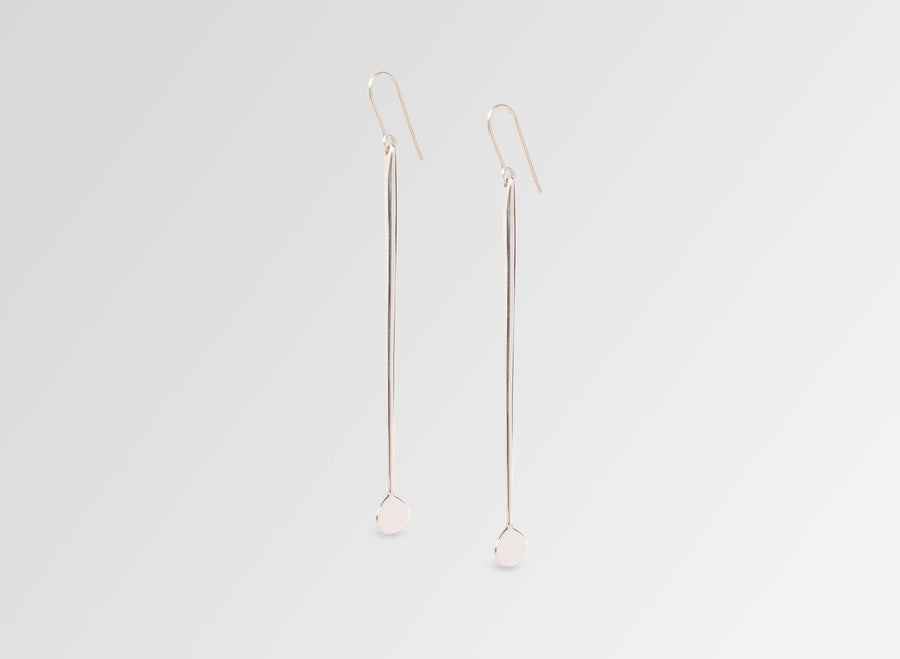 Louise Olsen Long Dandelion Drop Earrings - Silver
