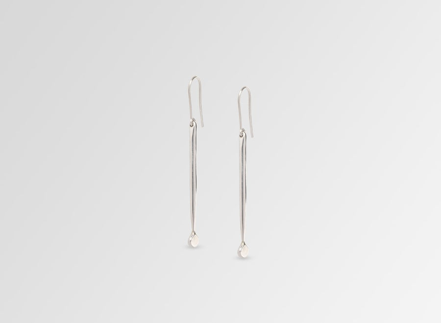 Louise Olsen Medium Dandelion Drop Earrings - Silver