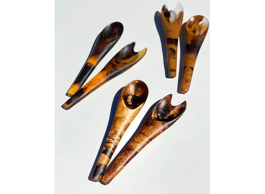 Resin Bones Servers - Clay Swirl