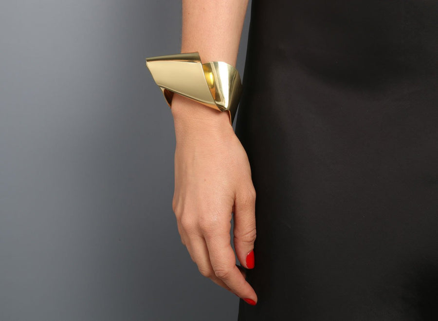 Louise Olsen Large Fold & Flow Cuff - Brass