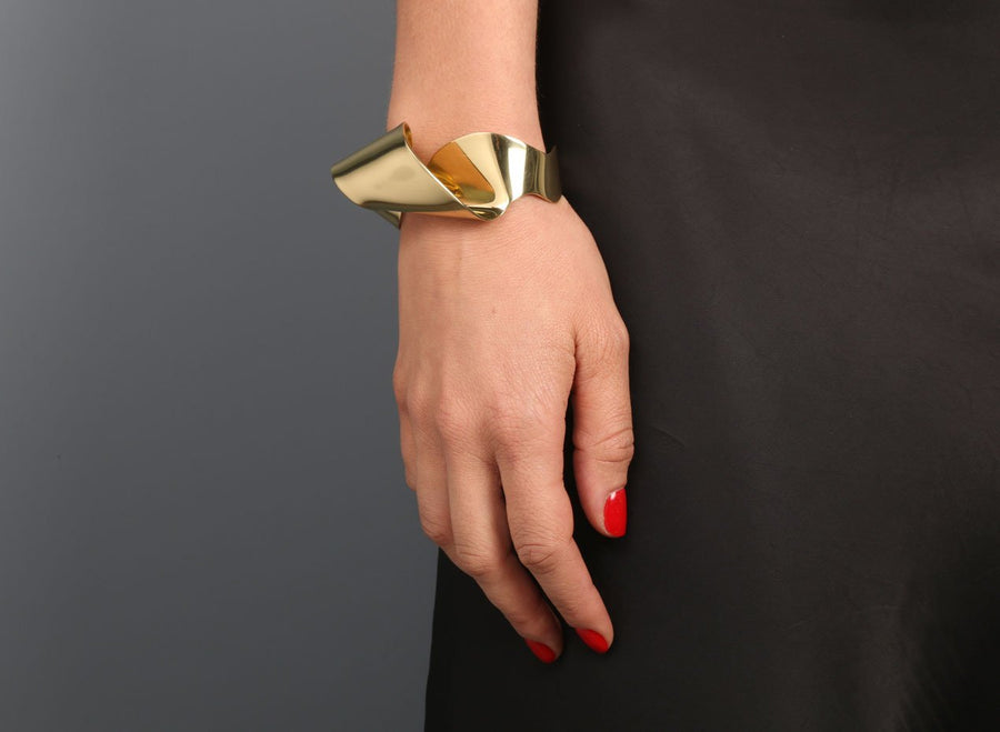 Louise Olsen Small Fold & Flow Cuff - Brass