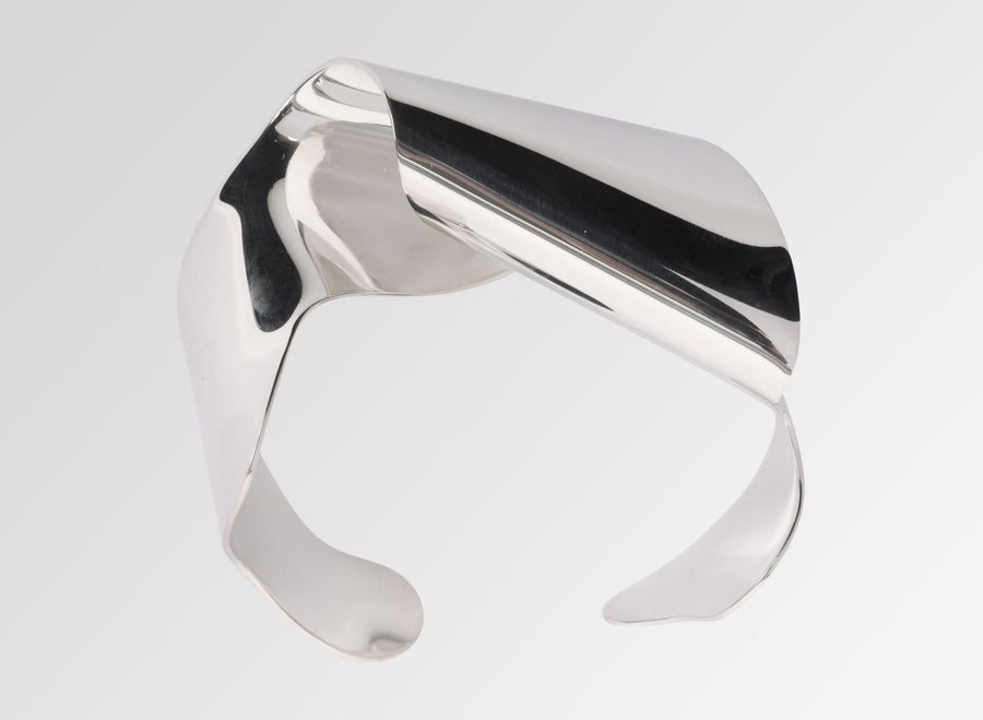 Louise Olsen Large Fold & Flow Cuff - Silver