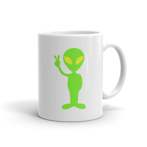 Peace out Alien mug Finnigan Note